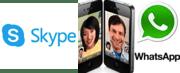 Videoconferencia Skype Whatsapp